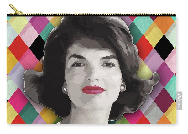 Carry-all Pouch featuring the painting Jackie Geometric by Carla B