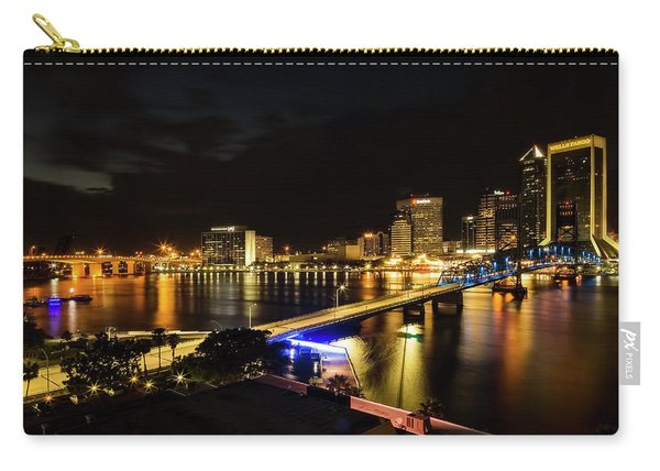 Jacksonville Skyline By Night Carry-all Pouch