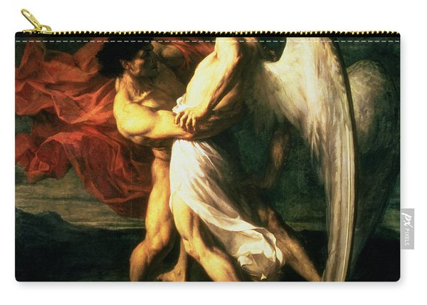 Jacob Wrestling With The Angel, 1865  Carry-all Pouch