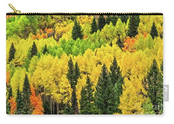 Carry-all Pouch featuring the photograph Jam-packed Hillside by Susan Warren