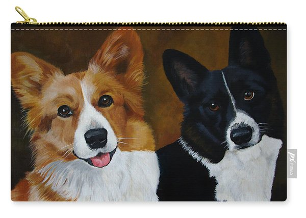 James And Joy Custom Portrait Painting Carry-all Pouch