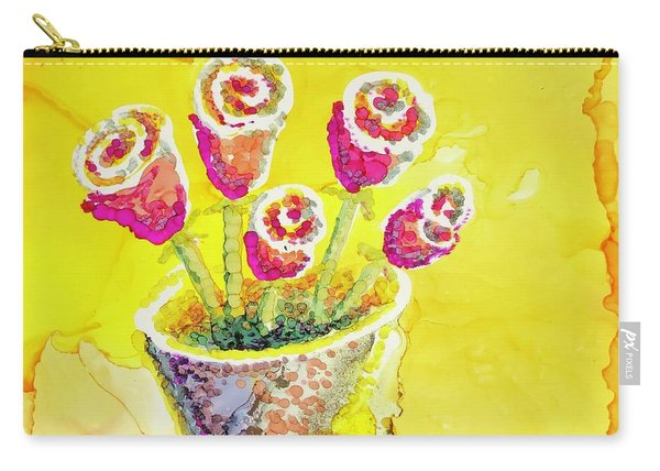 Jaunty Rosebuds Carry-all Pouch