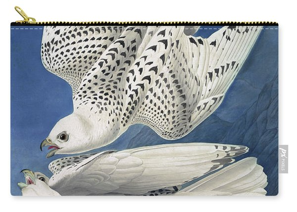Jer Or Iceland Falcon, Falco Islandicus By Audubon Carry-all Pouch