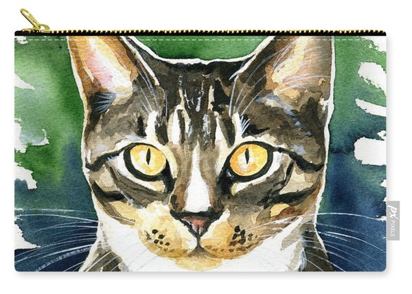 Jess Tabby Cat Painting Carry-all Pouch