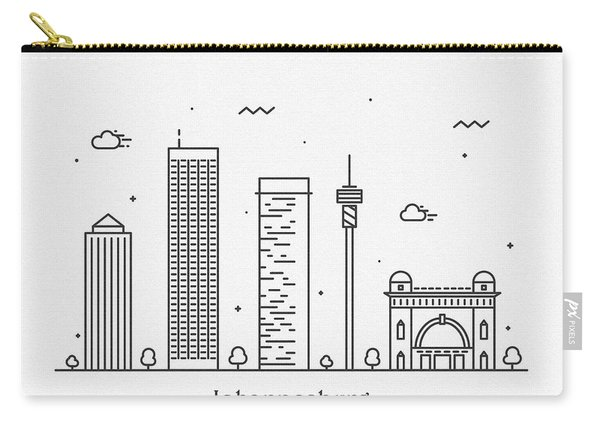 Johannesburg Cityscape Travel Poster Carry-all Pouch
