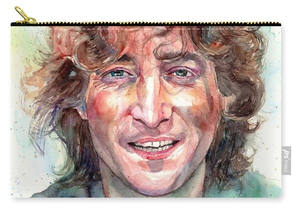 John Lennon Smiling Carry-all Pouch