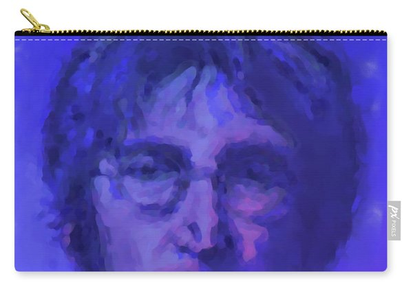 John Lennon Study In Blue Carry-all Pouch