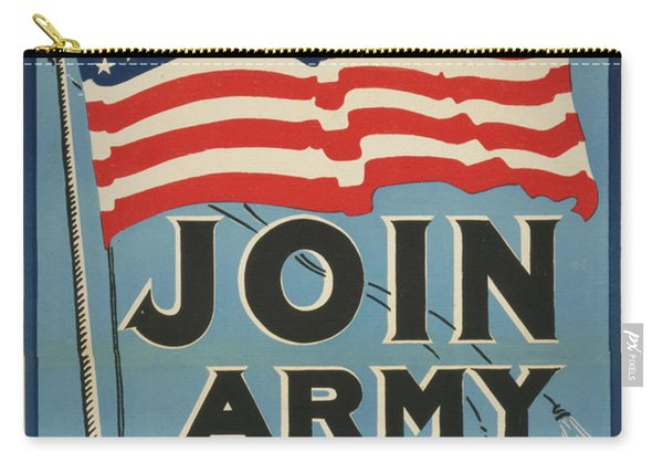 Join Army Navy Marines, Circa 1917 Carry-all Pouch