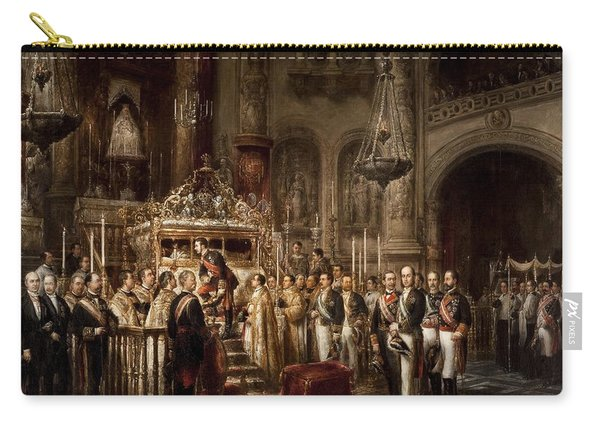 Jose Maria Romero / 'alfonso Xii Contemplating In The Royal Chapel The Incorrupt Body Of San Fern... Carry-all Pouch