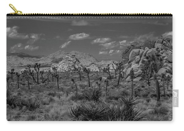 Joshua Tree In Black And White Carry-all Pouch