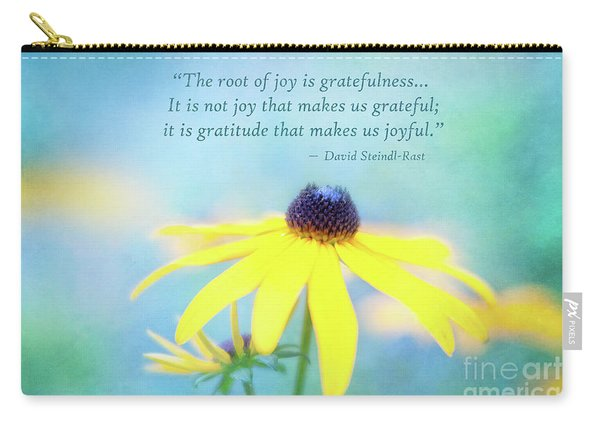 Joy And Gratefulness Carry-all Pouch
