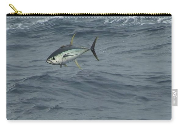 Jumping Yellowfin Tuna Carry-all Pouch
