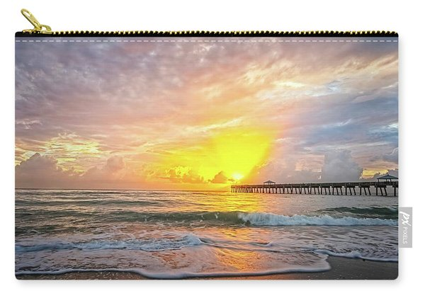 Juno Beach Pier Sunrise 2 Carry-all Pouch