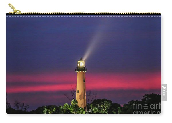 Carry-all Pouch featuring the photograph Jupiter Light Beam by Tom Claud