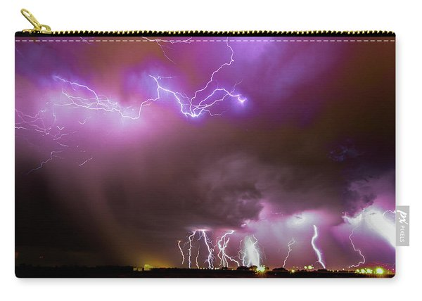 Carry-all Pouch featuring the photograph Just A Few Bolts 001 by NebraskaSC