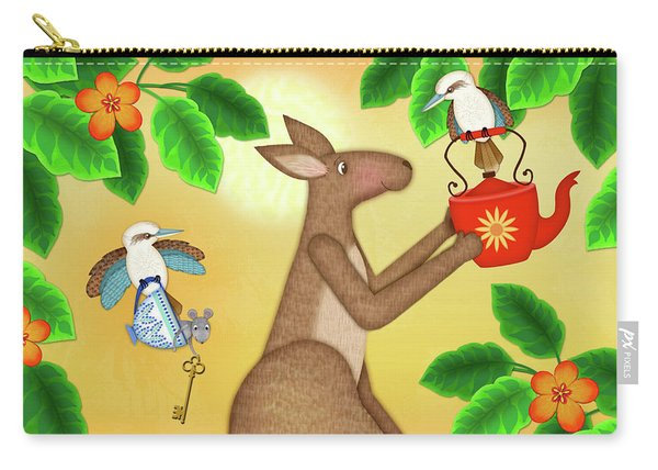 K Is For Kangaroo And Kookaburra Carry-all Pouch