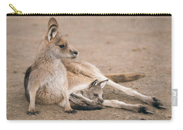Carry-all Pouch featuring the photograph Kangaroo Outside by Rob D Imagery