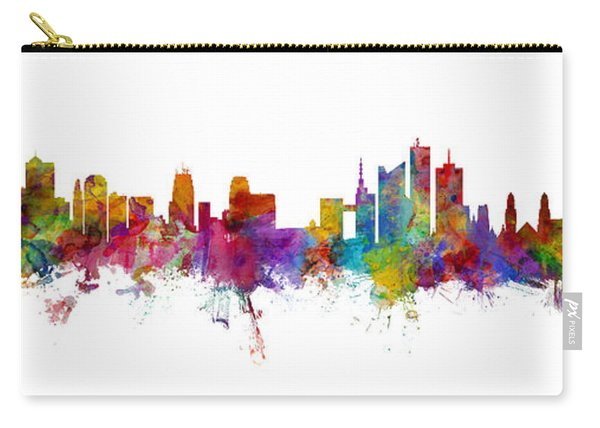 Kansas City And Brussels Skyline Mashup Carry-all Pouch