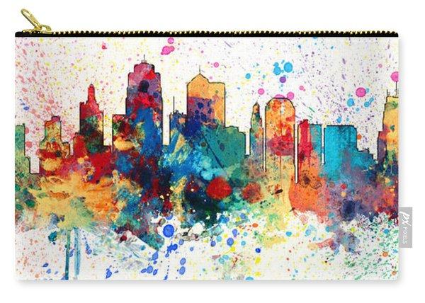 Kansas City Missouri Skyline Panoramic Spash Carry-all Pouch
