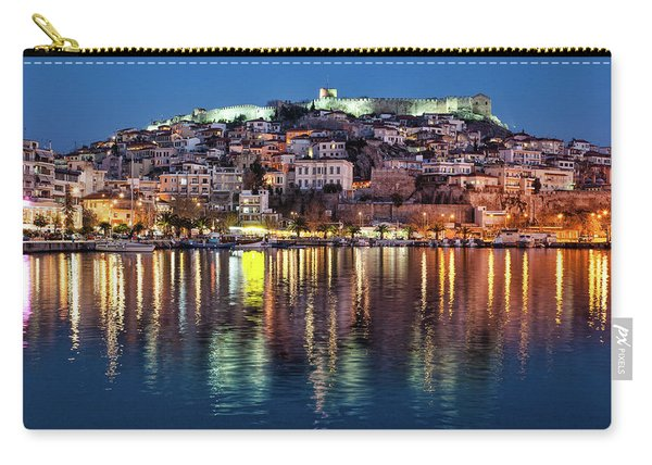Kavala Town At Night Carry-all Pouch