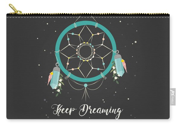 Keep Dreaming - Boho Chic Ethnic Nursery Art Poster Print Carry-all Pouch