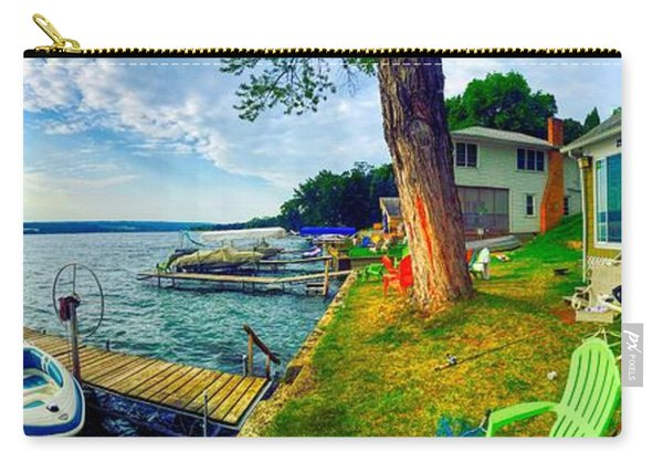 Keuka Lake Mornings Panorama Carry-all Pouch