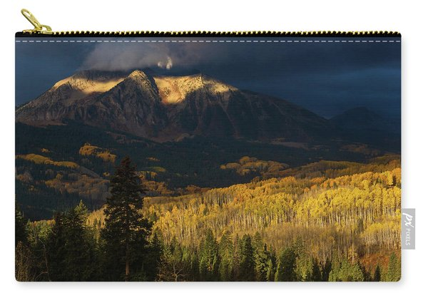 Carry-all Pouch featuring the photograph Kiss Of Sunlight by John De Bord