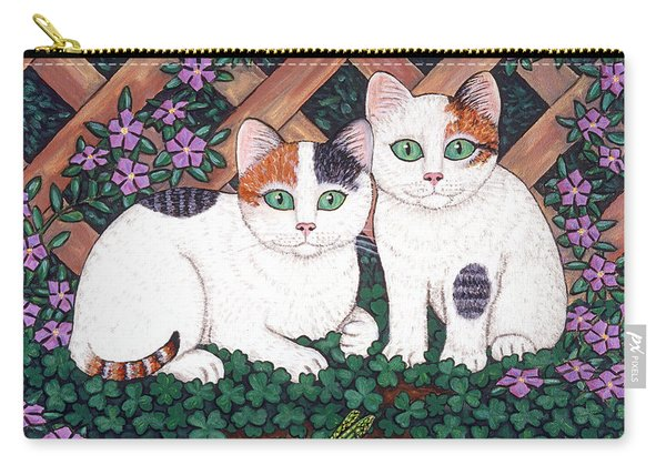 Kittens And Clover Carry-all Pouch