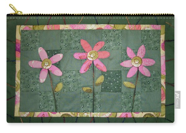 Kiwi Flowers Carry-all Pouch