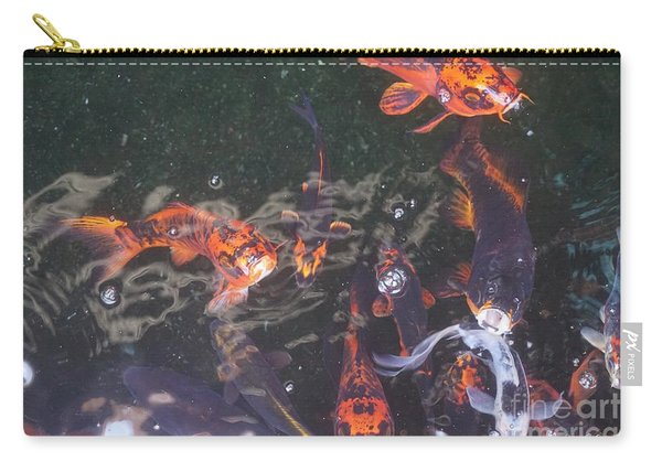 Carry-all Pouch featuring the photograph Koi In A Pond by Jimmy Clark