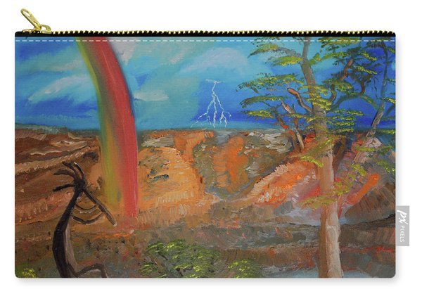 Kokopelli Calls The Storm Carry-all Pouch