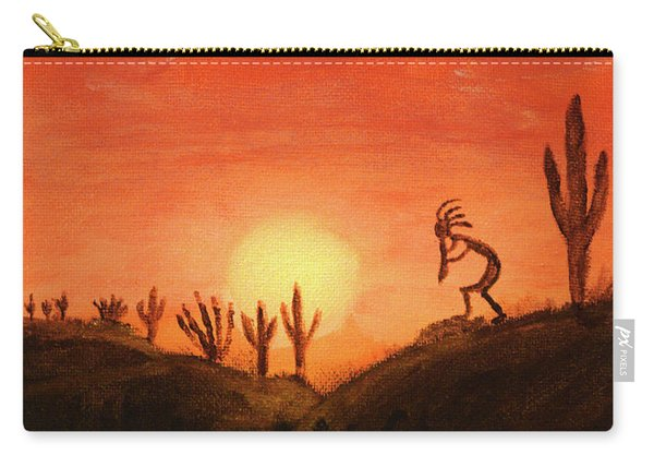 Kokopelli's Sunset Song Carry-all Pouch