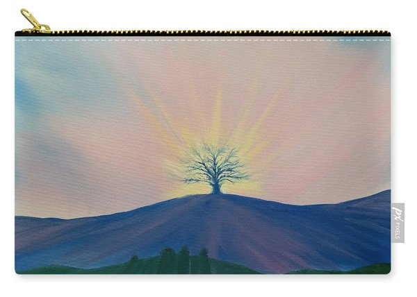Carry-all Pouch featuring the painting Komorebi by Kevin Daly