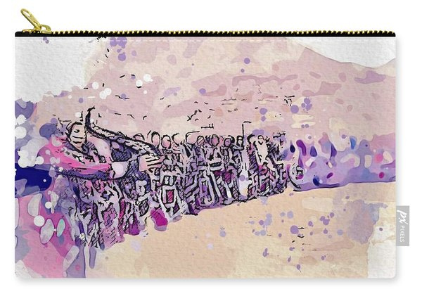 Kurdish Dance Watercolor By Ahmet Asar Carry-all Pouch