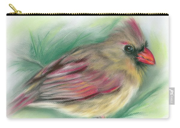 Lady Cardinal In The Pine Carry-all Pouch