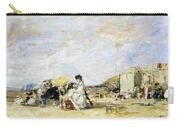 Lady In White On The Beach At Trouville - Digital Remastered Edition Carry-all Pouch