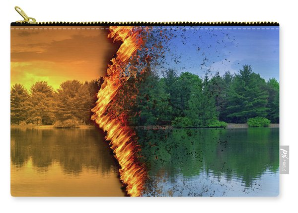 Lake Forest Fire Carry-all Pouch