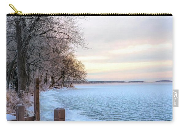 Lake In Winter Carry-all Pouch