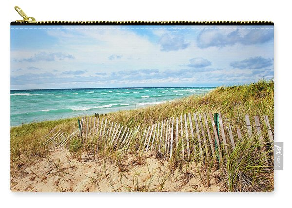 Lake Michigan Beachcombing Carry-all Pouch