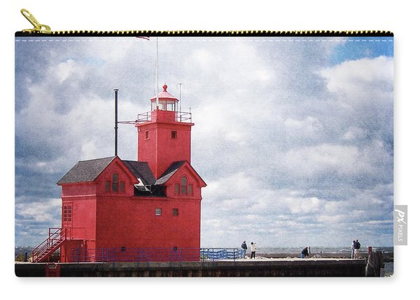 Lake Michigan Light House Carry-all Pouch