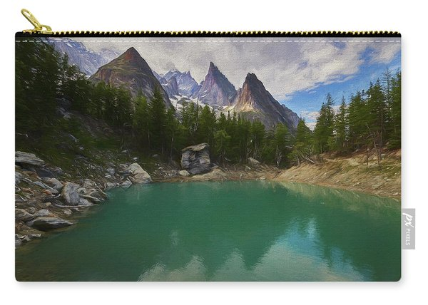 Lake Verde In The Alps II Carry-all Pouch