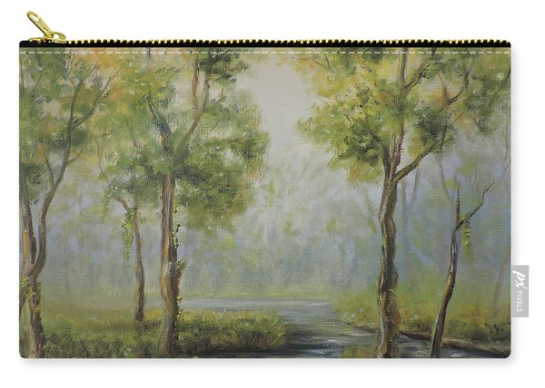 Landscape Of The Great Swamp Of New Jersey With Pond Carry-all Pouch