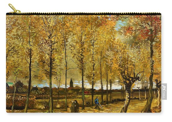 Lane With Poplars Near Nuenen - Digital Remastered Edition Carry-all Pouch