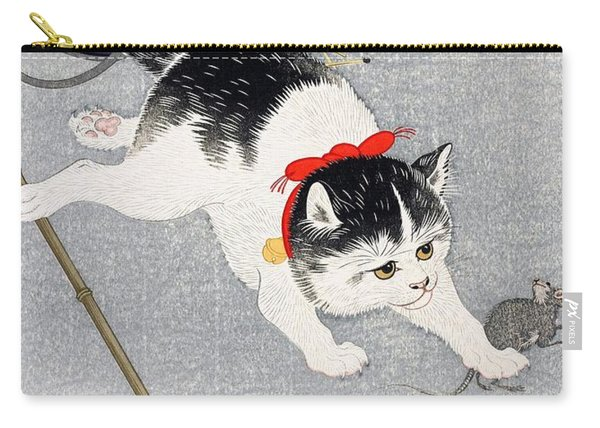 Lantern And Cat Carry-all Pouch