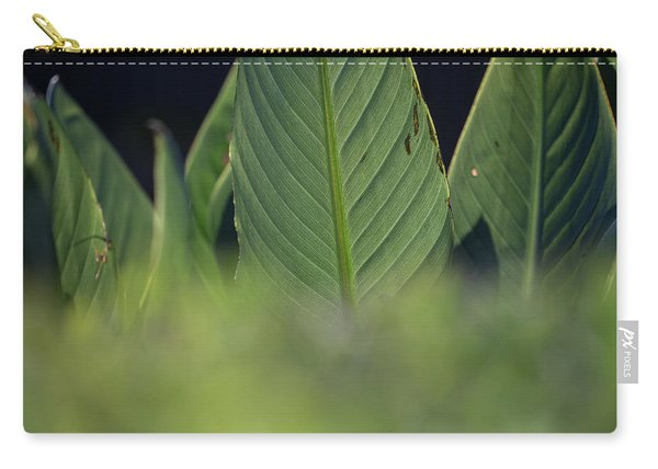 Large Dark Green Leaves Carry-all Pouch