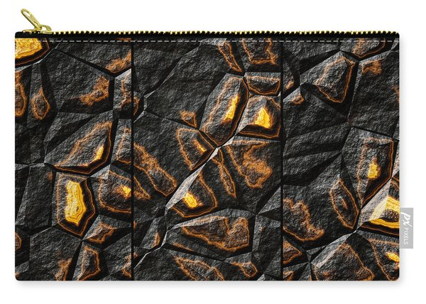 Large Gold Stone Triptych Carry-all Pouch