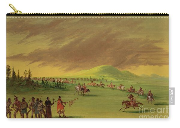 Lasalle Meets On The Prairie Of Texas, A War Party Of Cenis Indians, April 25th, 1686. Carry-all Pouch