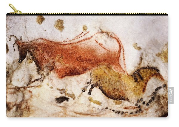 Lascaux Cow And Horse Carry-all Pouch