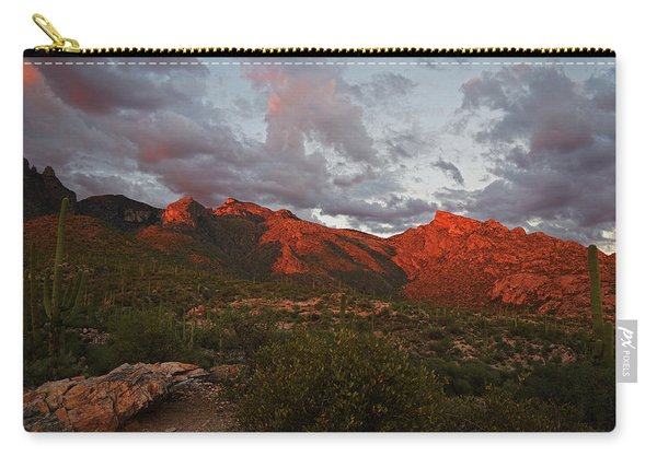 Last Light On Catalina Mountains Carry-all Pouch
