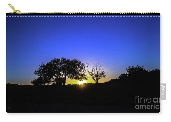 Last Light Texas Hill Country Paradise Canyon Sunset 8053a1 Carry-all Pouch